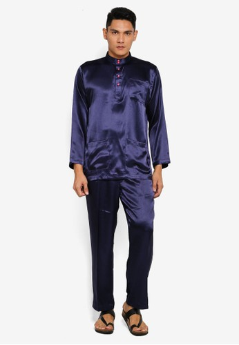 Gene Martino blue Tradisional Baju Melayu C2774AA5454460GS_1