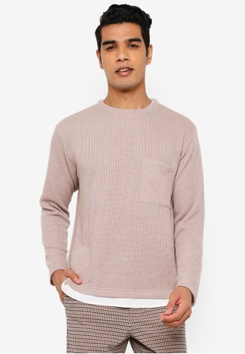 RAGEBLUE brown Long Sleeve Knit T-Shirt 6F8B8AAF941B07GS_1