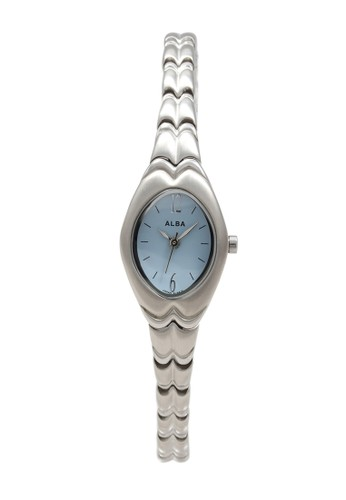 Alba silver ALBA Jam Tangan Wanita - Silver Blue - Stainless Steel - AC3D51 D870CACCF1E0AAGS_1