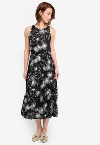 ZALORA black Sleeveless Midi Dress With Cross Back 47A41AAAEAE967GS_1