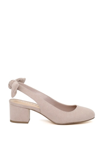 London Rag beige London Rag Shirley  Nude Color Slingback Round Toe Sandals SH1553 D84D3SH5AA5419GS_1