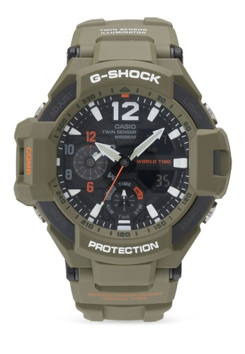Casio green Casio G shock Watch GA-1100KH-3A 84C3CAC4CD169AGS_1