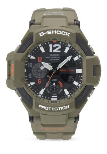 Casio green Casio G shock Watch GA-1100KH-3A 84C3CAC4CD169AGS_1