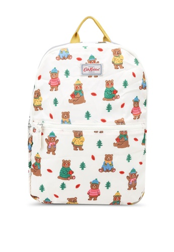 Cath Kidston beige Woodland Bear Foldaway Backpack 17C35AC918EE67GS_1