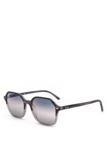 Ray-Ban grey Acetate Sunglasses F5447GL12A26ADGS_1