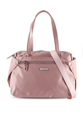 NUVEAU pink Lightweight Nylon Shoulder Bag 2C88BAC2338656GS_1