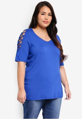 Junarose blue Plus Size Olia Blouse 227C2AA624D9C6GS_1