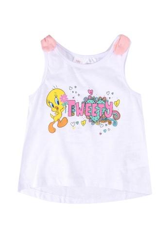LC Waikiki white Baby Girl Tweety Cotton Tank Top FA9FCKA5DE1219GS_1