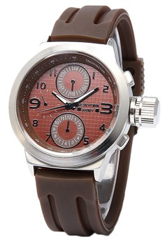 Newyork Army Men's NYA8804 Brown Dial Rubber Strap Watch