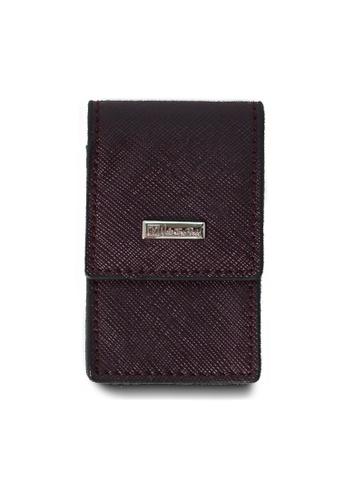 Valentino Rudy purple Valentino Rudy Saffiano Leather Key Holder VA677AC15TEISG_1