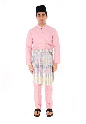 Amar Amran pink Baju Melayu Gumbae 331E6AACF0447BGS_1