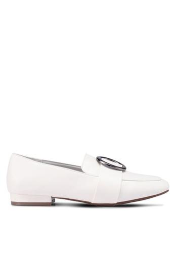 Bata 白色 金屬飾懶人樂福鞋 99EE9SH9F50D11GS_1