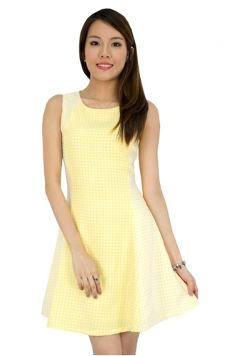 MOONRIVER yellow Carrie 2 Tones Drop Waist Shell Office Dress MO886AA73TOOSG_1