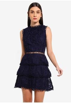 7f92065961b4af AX Paris navy Navy Cut Out Crochet Mini Dress 6207EAA93A33DFGS_1