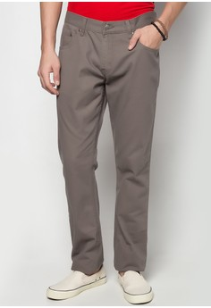 Low Rise Basic Five Pocket Non-Denim Pants