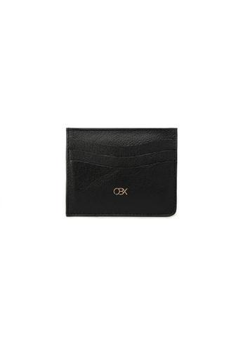 OBX black OBX Leather Cardholder Wallet F727CAC46CEC1EGS_1