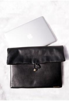 Zuri (Leather) Laptop Sleeve - Black