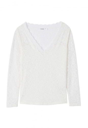 Terranova white Long Sleeve T-shirt E5947AA5BF6CFAGS_1
