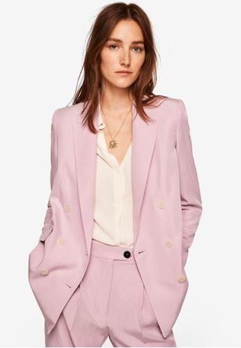 MANGO purple Suit Blazer 930ABAA92348BDGS_1