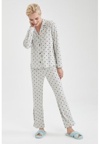 DeFacto grey Woman 2-pieces Homewear Top & Bottom Set B6C23AAF244410GS_1