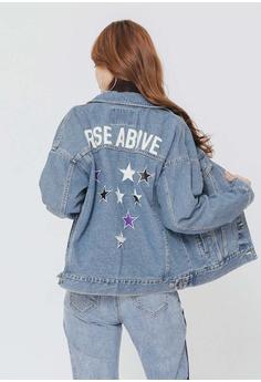 1c6ec4d149fcf0 50% OFF H CONNECT Patchwork Stitching Denim Jacket HK  593.00 NOW HK   296.00 Sizes XS S