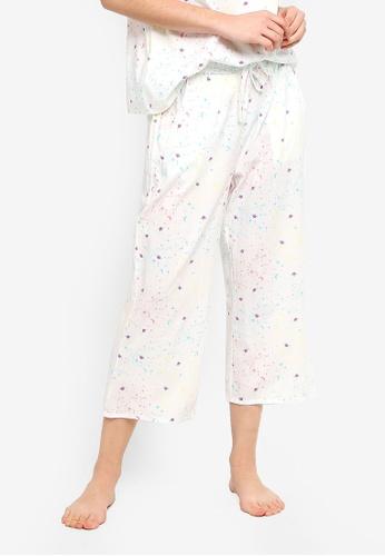 Supre white Cotton 3/4 Sleep Pants FE6E3AA99FD820GS_1