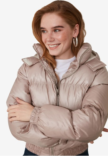 Trendyol brown Hooded Puffer Jacket 51621AA33F96DBGS_1