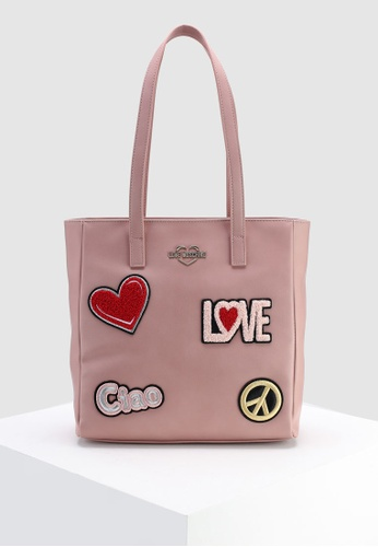 Shop Love Moschino Tote Bag With Decorative Patches Online on ZALORA ... a272346204