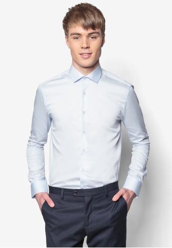 合身長袖襯衫, 服飾, 素esprit hk色襯衫