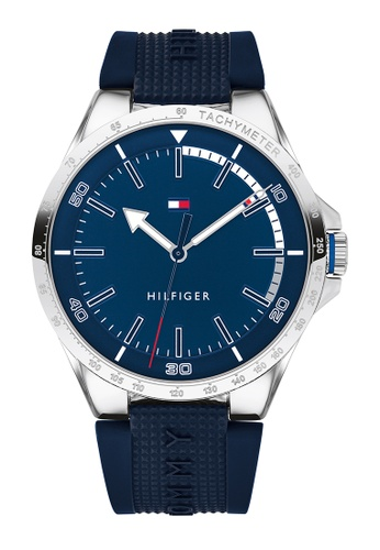 Tommy Hilfiger blue Tommy Hilfiger Navy Men's Watch (1791542) D7808AC9FBBE47GS_1
