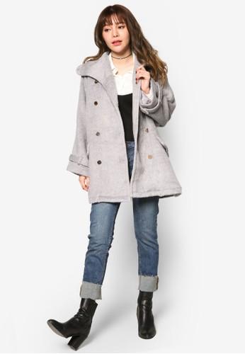 雙esprit home 台灣排鈕寬版長版外套, 服飾, 外套