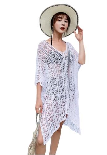 LYCKA 白色 BC1068海灘度假外罩衫白色 F842EUS8978690GS_1