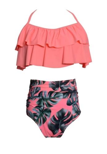 Twenty Eight Shoes pink VANSA Ruffle Bikini Parent-child Swimsuit VCW-Sw01801A A24F8US1EE987AGS_1
