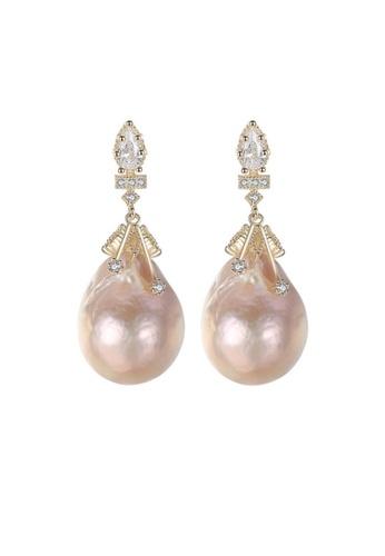 A.Excellence white Premium White Pearl Elegant Earring D8D1EAC3E53925GS_1