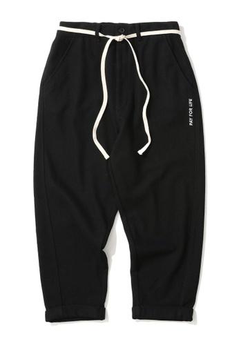 Fivecm black Shoelace chino pants 793A8AA13E550CGS_1