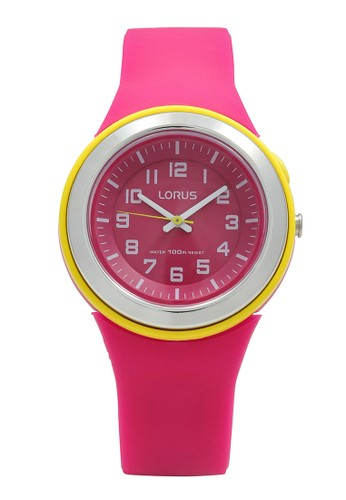 Lorus pink LORUS Jam Tangan Wanita - Red Yellow - Silicon - R2313MX9 41D88AC1F4CA3AGS_1