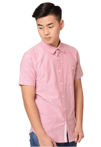 Praise pink Short Sleeves Oxford Shirt PR067AA0HA9FSG_1