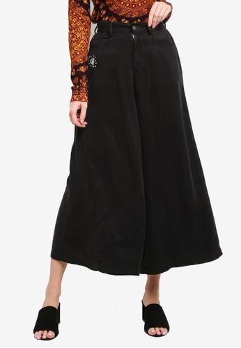 Desigual black Super Wide Black Denim Jeans 9D713AA6635286GS_1