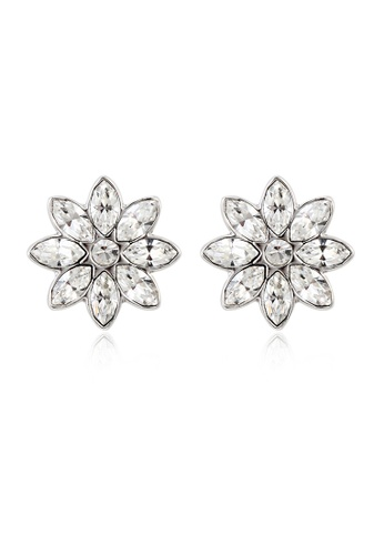 OUXI silver OUXI Winter Flower Earrings OU821AC08PPVMY_1