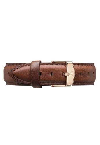 Daniel Wellington brown Classic St Mawes-Strap Rose gold 18mm DA965AC0UKRIID_1