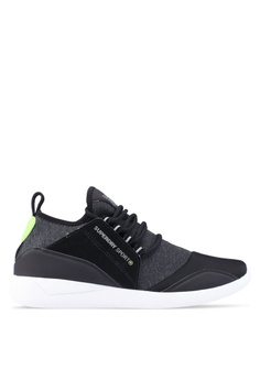 Superdry black and green Sd Super Lite Runner Sneakers 94A6ASH9BF561EGS_1