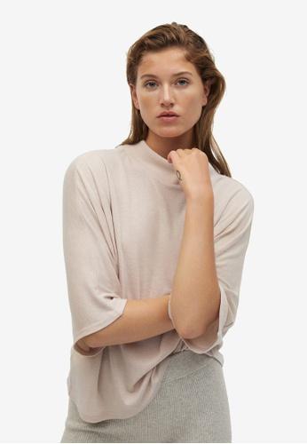 Mango grey Oversize T-Shirt BAF20AA10385DEGS_1