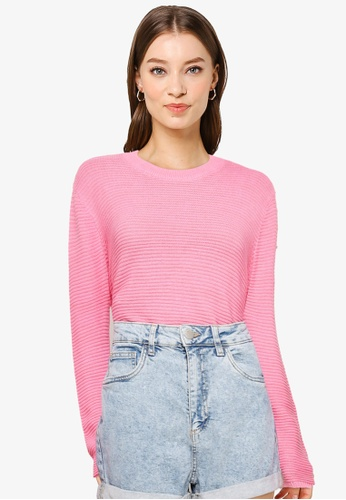 Cotton On pink Cotton Cropped Pullover B461DAAE821AE2GS_1