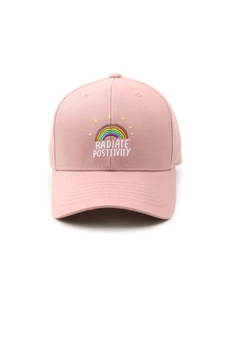 M-Wanted pink M.Radiate Positivity Baseball Cap 82577AC1DBF0D4GS_1
