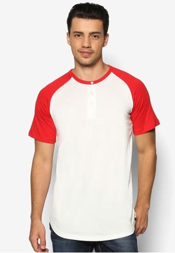 拼esprit 香港色亨利短袖TEE, 服飾, T恤
