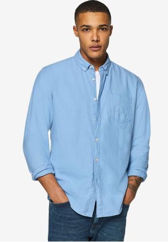 ESPRIT blue Woven Long Sleeve Shirt D538AAA71946CDGS_1