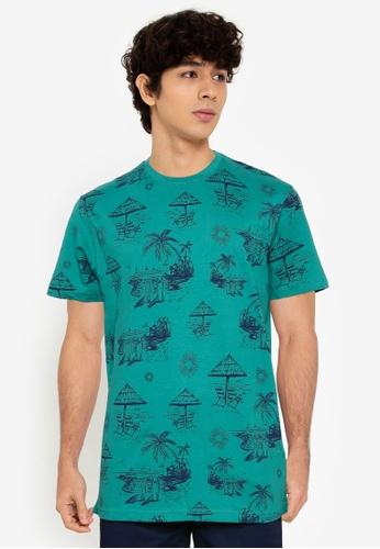 Springfield green Beach T-Shirt 3496AAA2A75B6DGS_1
