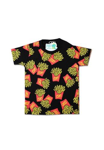 Pop Kidswear black Pop Kidswear Pop Fries Kids Tee 33AF1KA85FD108GS_1