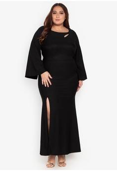 506fce5355 Get Laud Plus black Maxi Plus Dress 94A4EAA84E961AGS 1