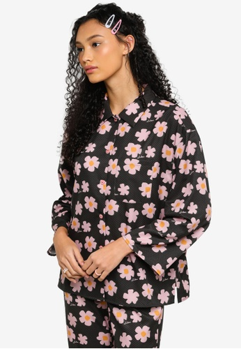Lubna green Printed Wide Sleeve Shirt F8B63AACD8A017GS_1
